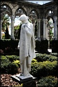 Locations Prints - Cloisters Statue Print by Heidi Hermes