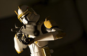 Maquette Framed Prints - Clone Trooper 1 Framed Print by Micah May