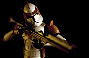 Maquette Framed Prints - Clone Trooper 2 Framed Print by Micah May