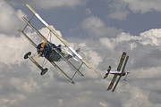 Biplane Prints - Close Encounter Print by Pat Speirs