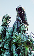 Sculpture Art Prints - Close look at Mt. Hope Civil War Monument Print by Linda Phelps