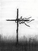 Jesus Drawings Prints - Close To The Brokenhearted Print by J Ferwerda