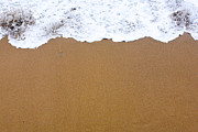 Sand Pattern Originals - Close Up Of Foamy Sea Shore by Serhii Odarchenko