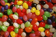 Food And Drink Art - Close Up Of Jelly Beans by Anonymous