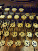 Typewriter Keys Framed Prints - Close Up of Keys on Old Typewriter Framed Print by Birgit Tyrrell