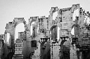 Ancient Rome Art - Close Up Of Remains Of Upper Deck In The Old Roman Collosseum At El Jem Tunisia by Joe Fox