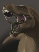 Animal Behavior Digital Art - Close-up Of Tyrannosaurus Rex Eating by Michele Dessi
