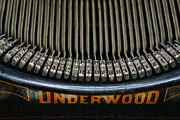 Underwood Typewriter Posters - Close up of vintage typewriter keys. Poster by Paul Ward