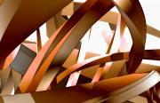 3-dimensional Framed Prints - Close-up View Of An Abstract Design Framed Print by Ryan Briscall