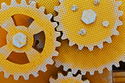 Mechanism Photo Originals - Close Up View Of Gears by Serhii Odarchenko