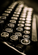 Play Prints - Close up vintage typewriter Print by Edward Fielding