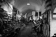 Souk Framed Prints - Closed Covered Souk Market Stalls Primarily For Locals With Dim Lighting In Nabeul Framed Print by Joe Fox
