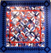 Quilt Tapestries - Textiles Originals - Closure by Tracie L Hawkins