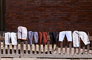 Drying Laundry Posters - Clothes drying in Durbar Square in Patan Nepal Poster by Robert Preston