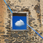 Wall Stone Wall Prints - Cloud Print by Bernard Jaubert