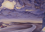 Great Plains Painting Posters - Cloud Break on the Northern Plains I Poster by Scott Kirby
