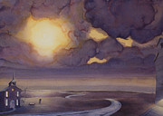 Great Plains Painting Posters - Cloud Break on the Northern Plains II Poster by Scott Kirby