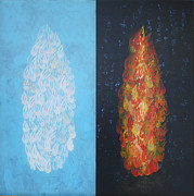 Mordecai Colodner Painting Prints - Cloud by Day Fire by Night Print by Mordecai Colodner
