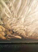 Bath Digital Art Posters - Cloud Chaos Cropped Poster by Matt Molloy