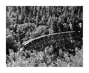 Wood Bridges Metal Prints - Cloud Climbing Railroad Trestle Metal Print by Jack Pumphrey