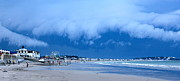 Nantasket Beach Prints - Cloud Curtain Print by Patricia Abbate