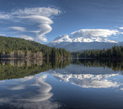 Mount Shasta Photos - Cloud Dance by Loree Johnson