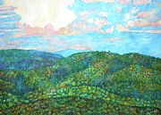 Impressionism Originals - Cloud Dance on the Blue Ridge by Kendall Kessler
