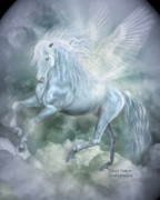 Fantasy Art Mixed Media Posters - Cloud Dancer Poster by Carol Cavalaris