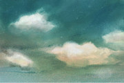 Cloud Diptych Left Print by Joan A Hamilton