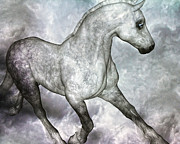 Arabian Horse Mixed Media Posters - Cloud Poster by East Coast Barrier Islands Betsy A Cutler
