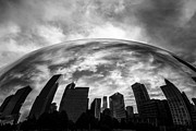Editorial Photo Framed Prints - Cloud Gate Chicago Bean Framed Print by Paul Velgos