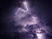 Peterson Nature Photography Posters - Cloud Lightning Poster by Melissa Peterson