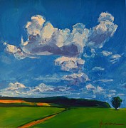 Work Of Art Originals - Cloud Path in an Open Field by Patricia Awapara