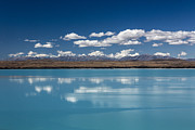 Turquoise Lake Framed Prints - Cloud reflection in Lake Pukaki Framed Print by Sheila Smart