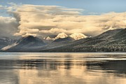 Lake Mcdonald Framed Prints - Cloud Rush Framed Print by Adam Jewell