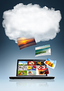 Laptop Posters - Cloud Technology Poster by Carlos Caetano
