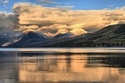 Lake Mcdonald Framed Prints - Cloud Wall Framed Print by Adam Jewell