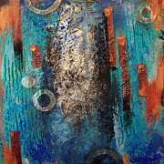 Pour Mixed Media - Cloudburst by Darlene McElroy