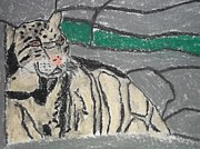 Etc. Pastels Prints - Clouded Leopard Pastel On Paper Print by William Sahir House