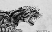 Hiss Prints - Clouded Leopard Theatened. Print by Ian Cuming