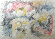 Impressionism Acrylic Prints Mixed Media - Clouded Thoughts by Esther Newman-Cohen