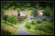 Driveway Framed Prints - Cloudland Farm Woodstock Vermont Framed Print by Edward Fielding