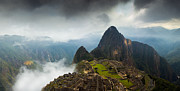 Clouds About To Envelop Machu Picchu Print by Alison Buttigieg