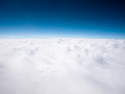 Over The Top Prints - Clouds Aerial From Above Background Print by Paul Velgos