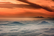 Haze Posters - Clouds And Haze At Sunrise Poster by Marc Crumpler