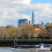 London Art - Clouds and The Shard by A Souppes