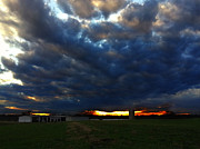Sheds Posters - Clouds at Sunset Poster by Lisa Holmgreen