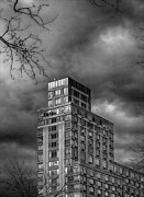 Architecture - Clouds Branches and High Rise NYC by Robert Ullmann