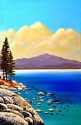 Lake Tahoe Paintings - Clouds Coming In by Frank Wilson