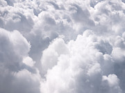 Fluffy Prints - Clouds From Above Background Print by Paul Velgos